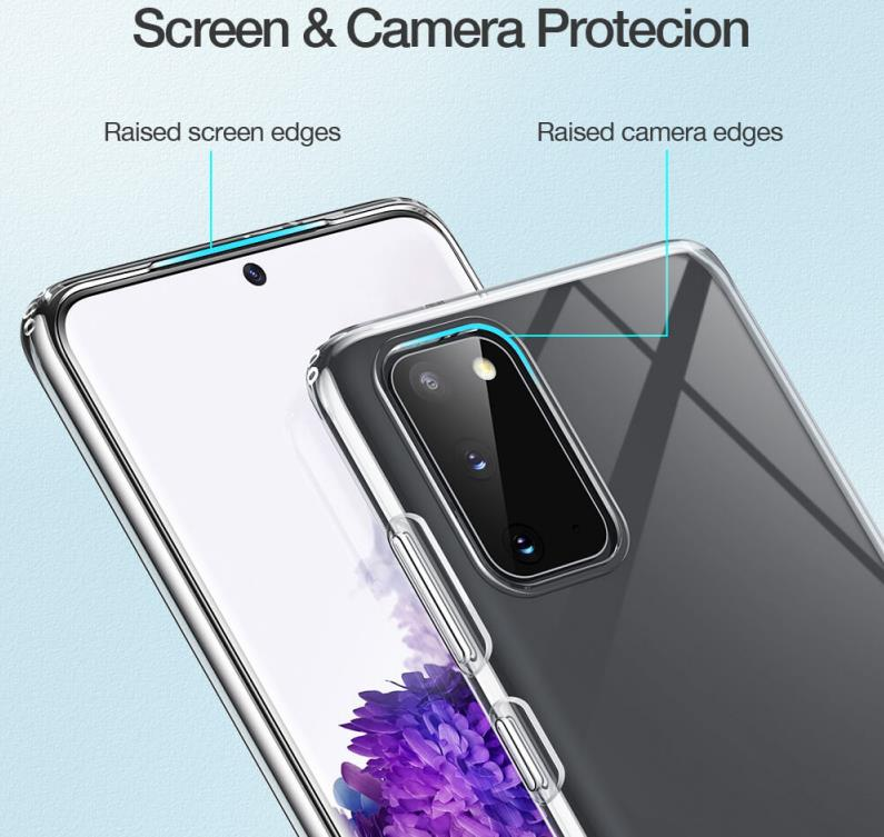 Military Grade Protection with shock-proof 4 corners Purple//Blue Gradient Color Stylish Ultra-Slim Crystal Clear TPU Phone Case TANYO Case Suitable for Samsung Galaxy S20 FE