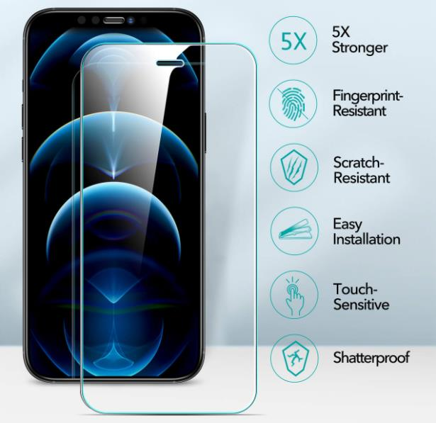 iPhone 12 Pro Max Tempered-Glass Protector