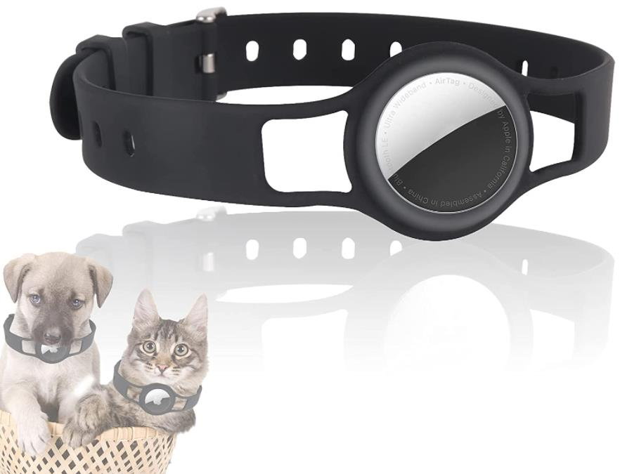 Laudtec Airtag Silicone Anti-Lost Dog Collar Necklace