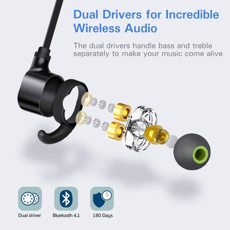 Dual Driver Bluetooth Earphones 2