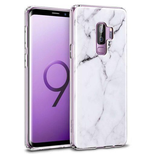 Galaxy S9 Plus Marble Slim Soft Case white
