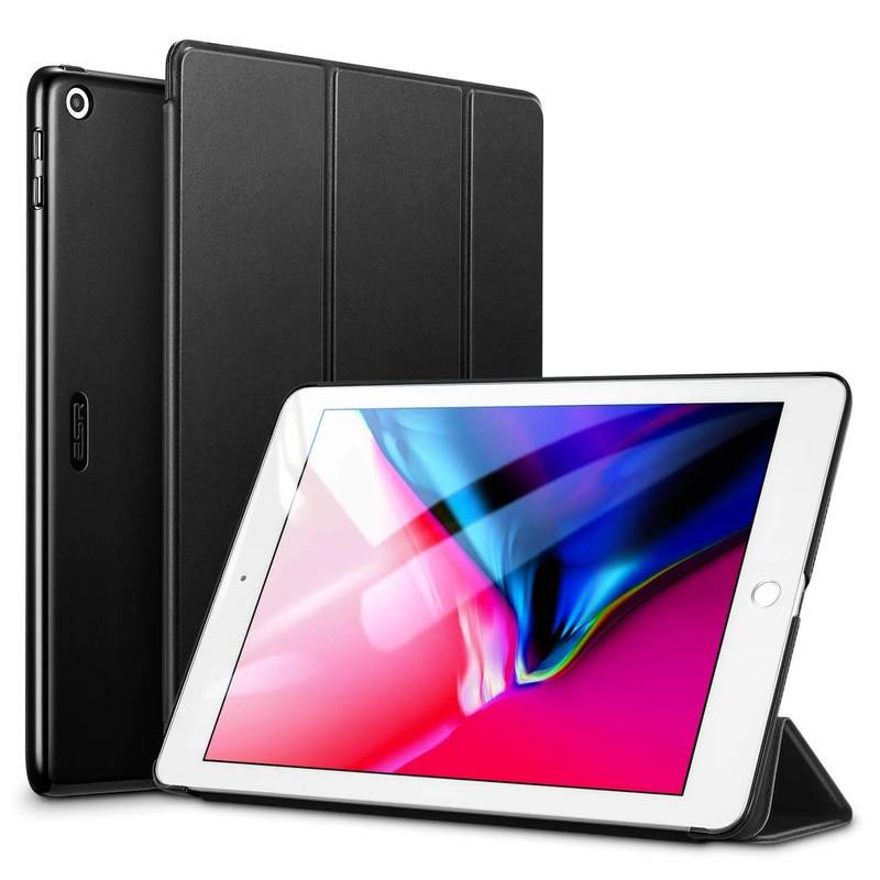 iPad 9.7 2018 2017 Yippee Trifold Stand Case black