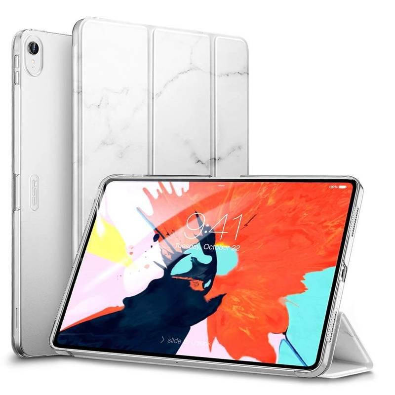 iPad Pro 11 Marble Trifold Case white