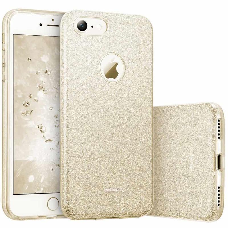 iPhone 7 Makeup Glitter Case gold