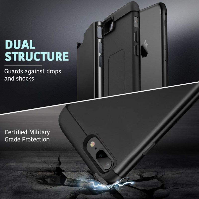 iPhone 8 Plus 7 Plus Metal Kickstand Case4