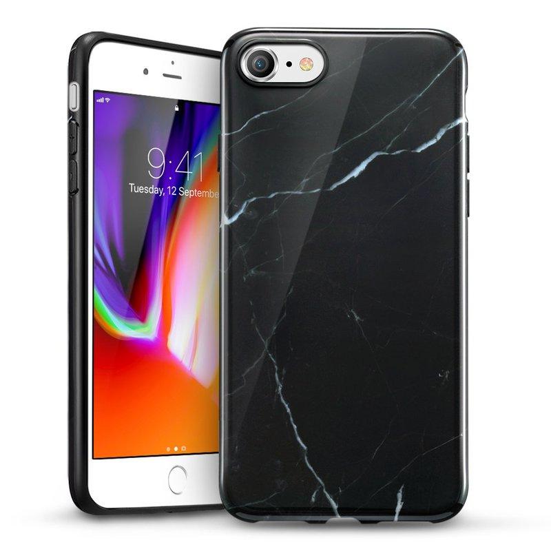iPhone 87 Marble Slim Soft Case black sierra