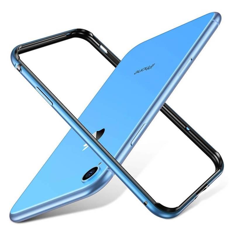iPhone XR Crown Metal Bumper Case blue