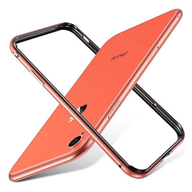 iPhone XR Crown Metal Bumper Case coral