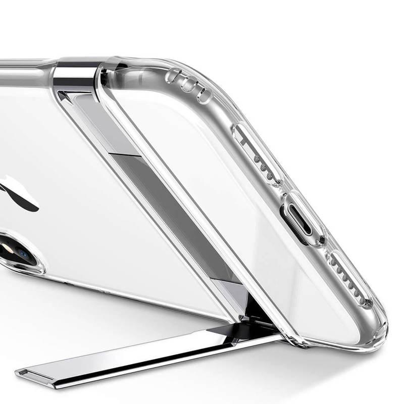 iPhone XSX Metal Kickstand Case clear