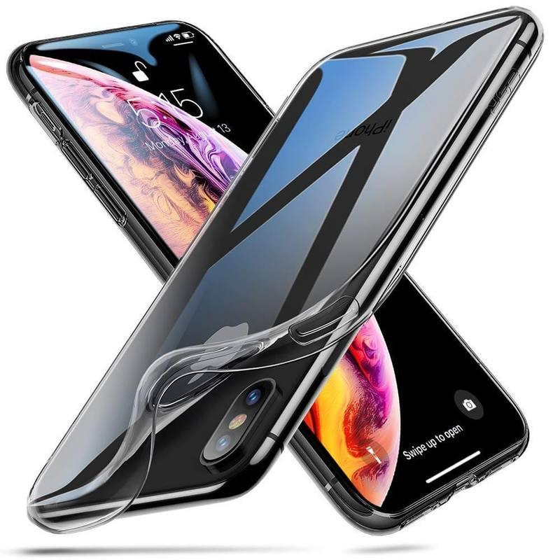 iPhone XSX Slim Clear Soft TPU Case black