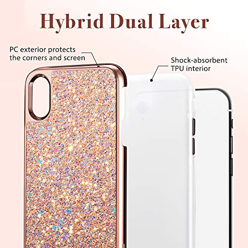 iphone xr glitter hard case 1