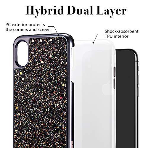 iphone xs max glitter hard case 2