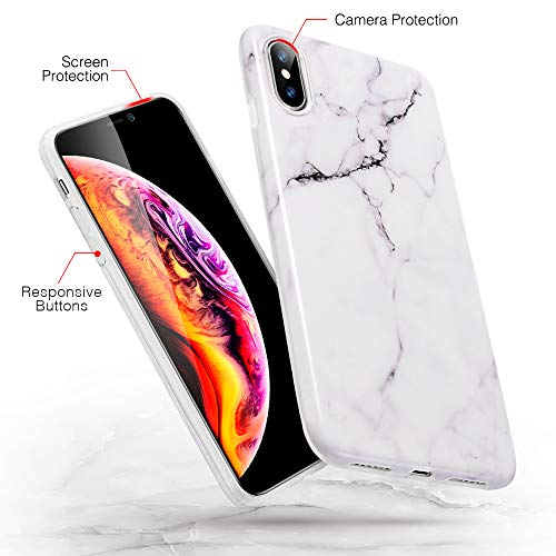 iphone xs max marble slim soft case 3
