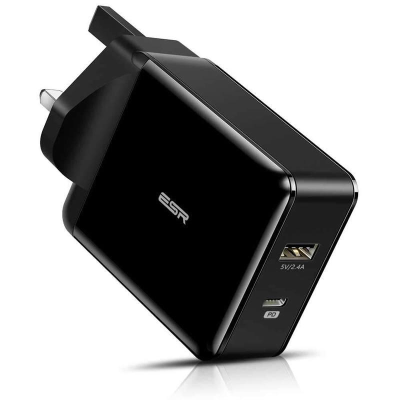 30 Вт настенное зарядное устройство великобритании, черный