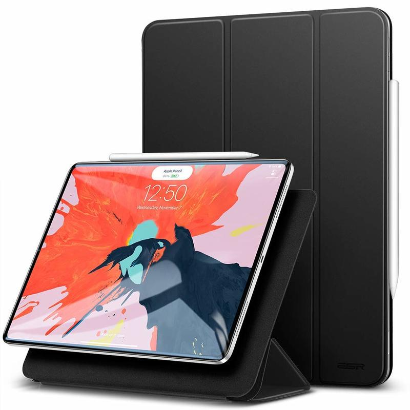 iPad Pro 12.9 2018 Yippee Magnetic Trifold Stmart Case black