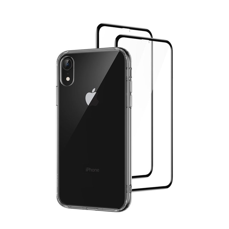 iPhone XR Full Coverage Protection Combo clear