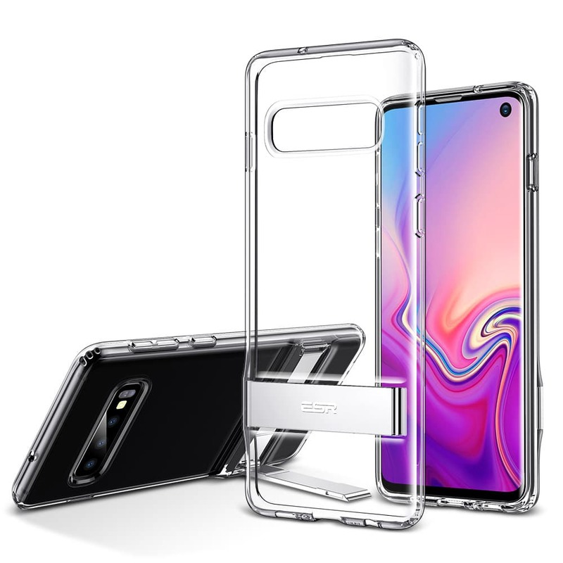Galaxy S10 Metal Kickstand Case clear