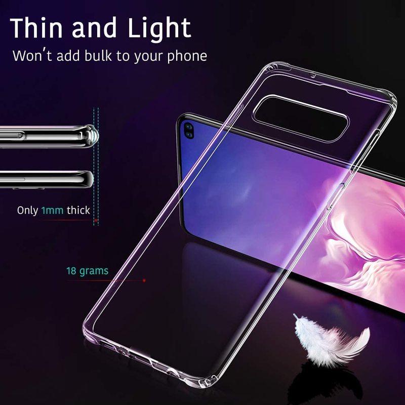 Galaxy S10 Plus Essential Slim Clear Soft TPU Case 2 2