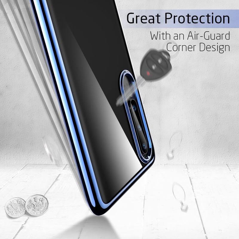 P30 Essential Slim Clear Soft TPU Case blue5 1