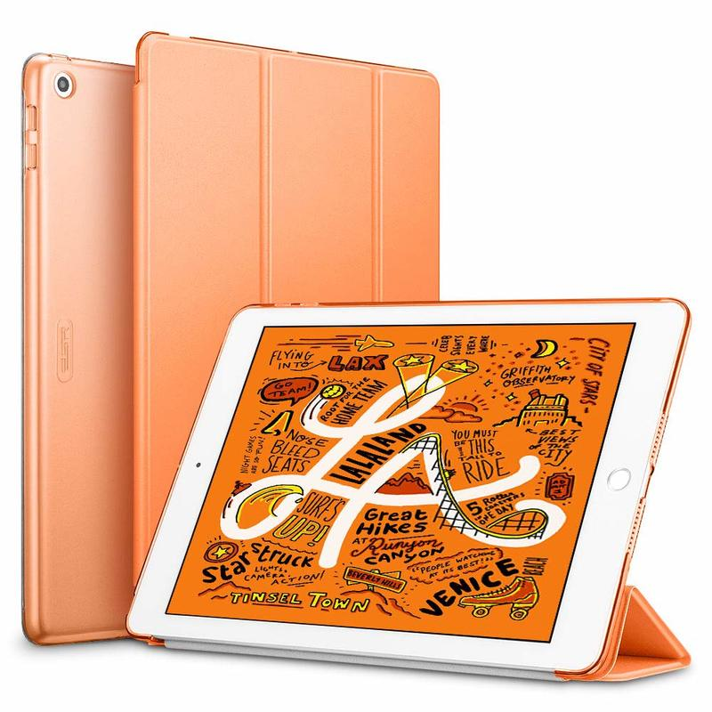 iPad Mini 5 2019 Yippee Trifold Smart Case papaya