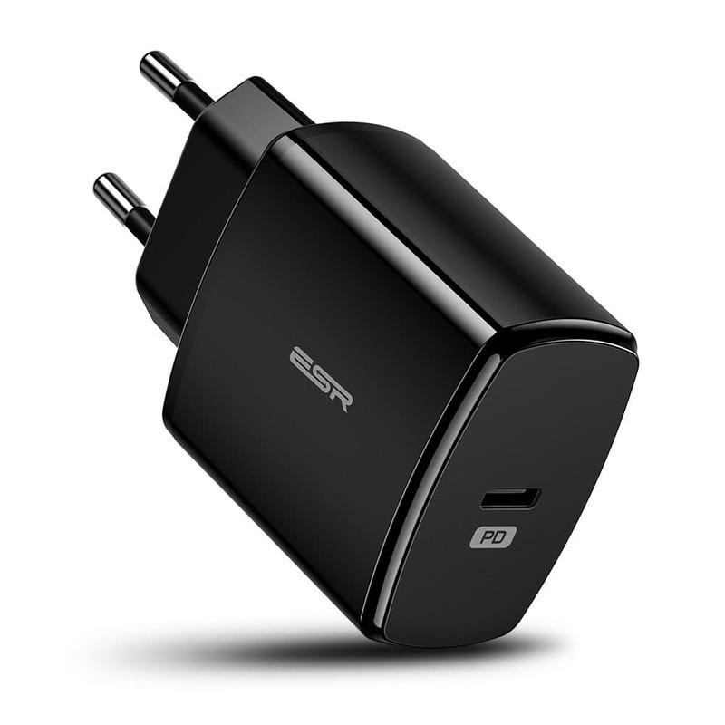 18W PD Wall Charger 1 USB C Port EU black