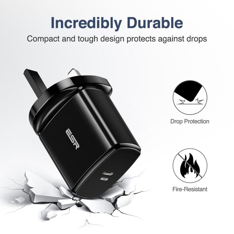 18W PD Wall Charger 1 USB C Port UK 5