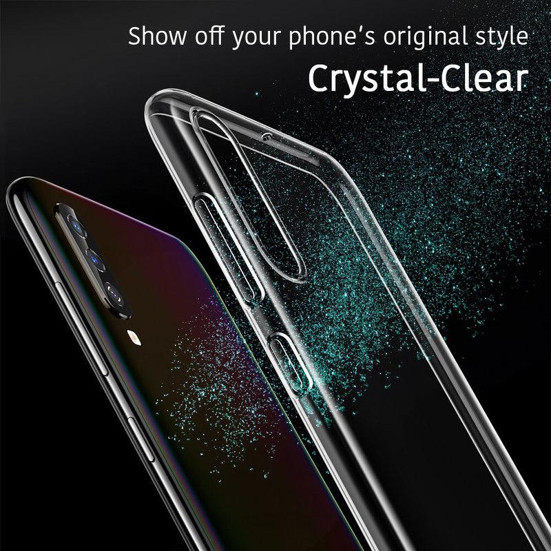 Galaxy A70 Essential Slim Clear Soft TPU Case 1