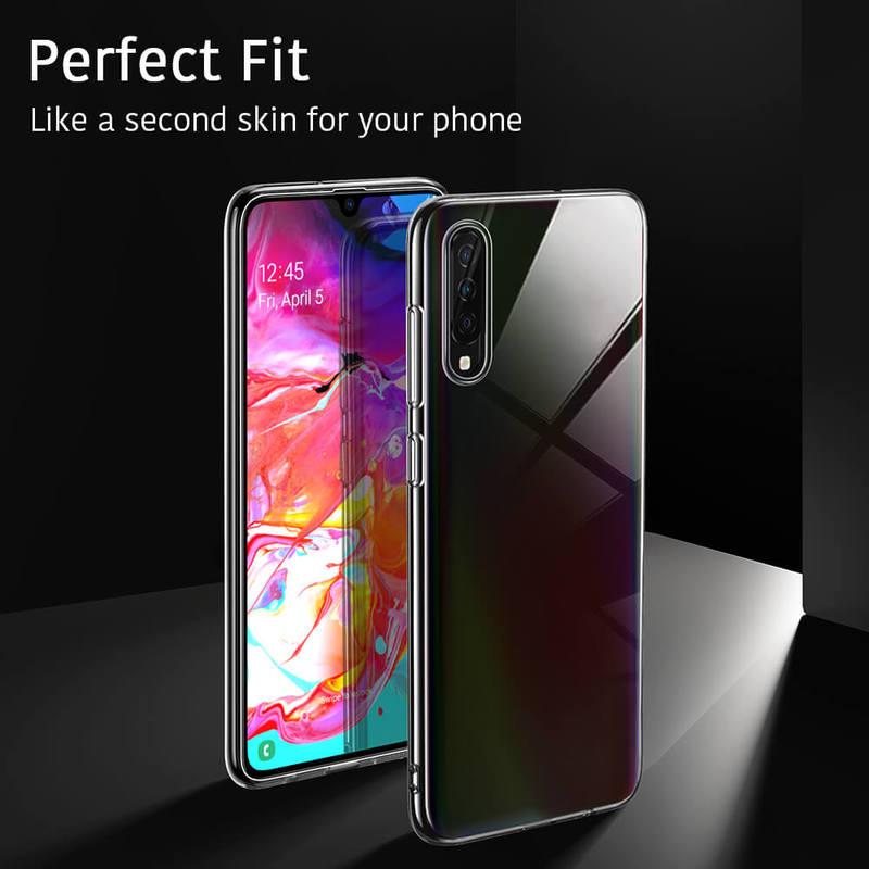Galaxy A70 Essential Slim Clear Soft TPU Case 2