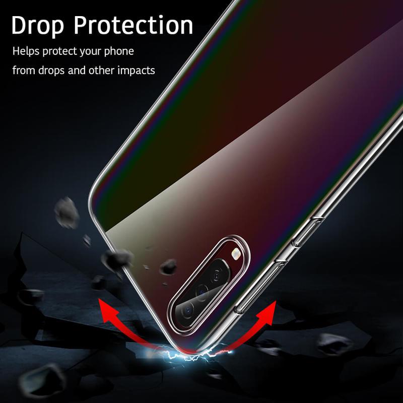 Galaxy A70 Essential Slim Clear Soft TPU Case 3