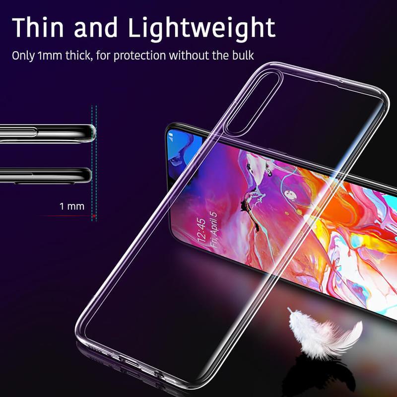 Galaxy A70 Essential Slim Clear Soft TPU Case 5