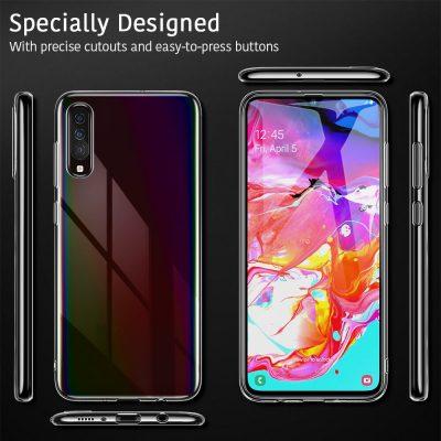 Galaxy A70 Essential Slim Clear Soft TPU Case 8