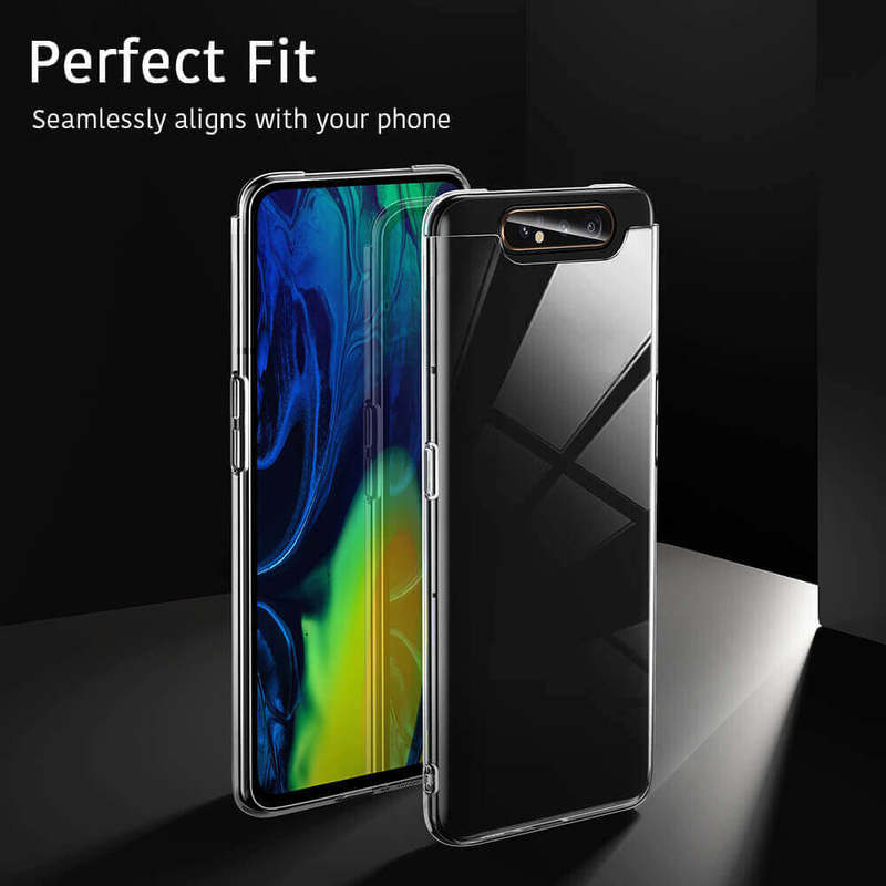 Galaxy A80 Essential Slim Clear Soft TPU Case 4