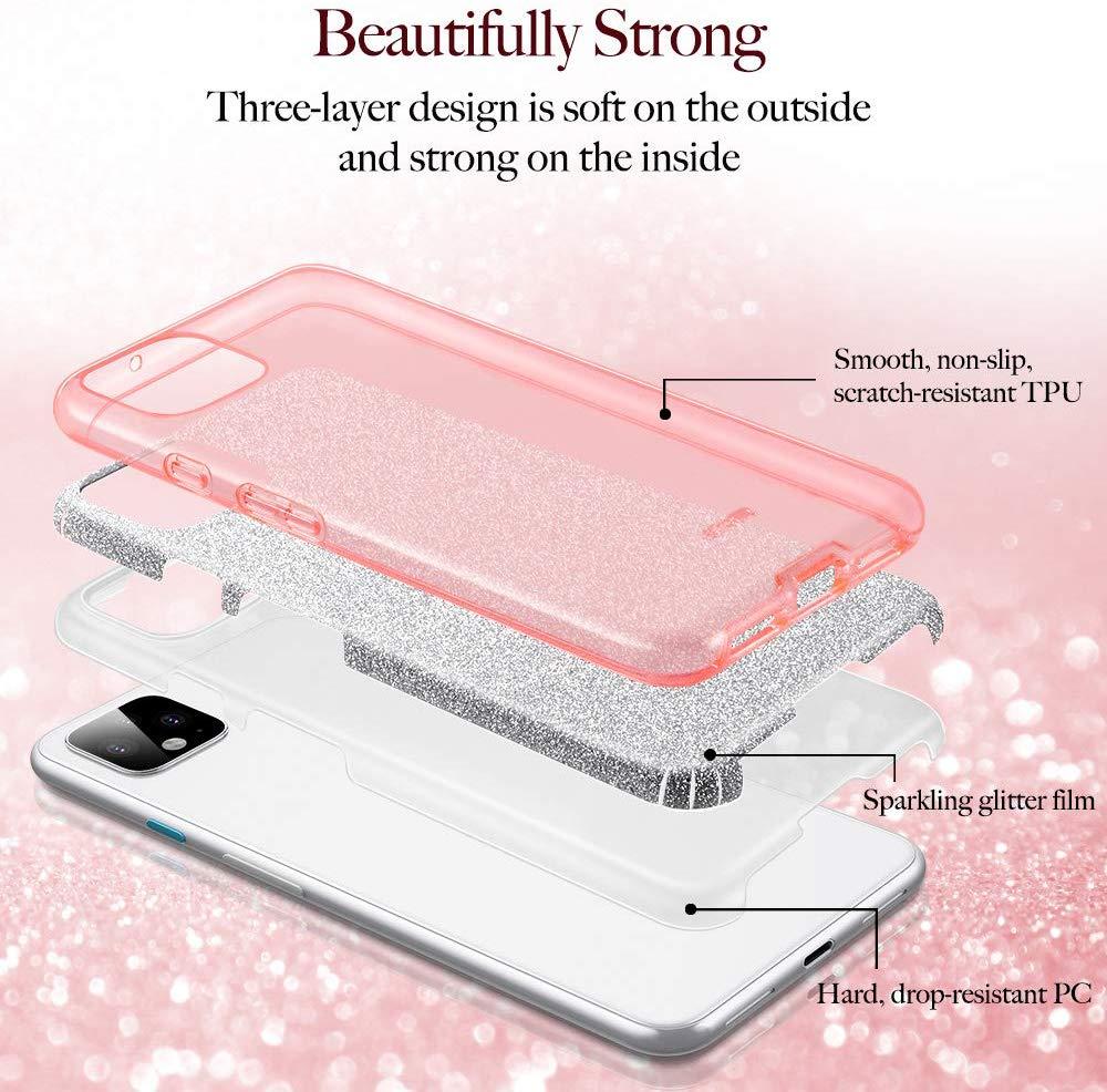 Pixel 4 Makeup Glitter Case 6