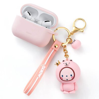 Bounce AirPods Pro Carrying Case with Cute Animal Keychain 3