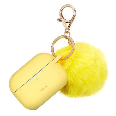 Bounce AirPods Pro Carrying Case with Fur Pom Pom Keychain 2