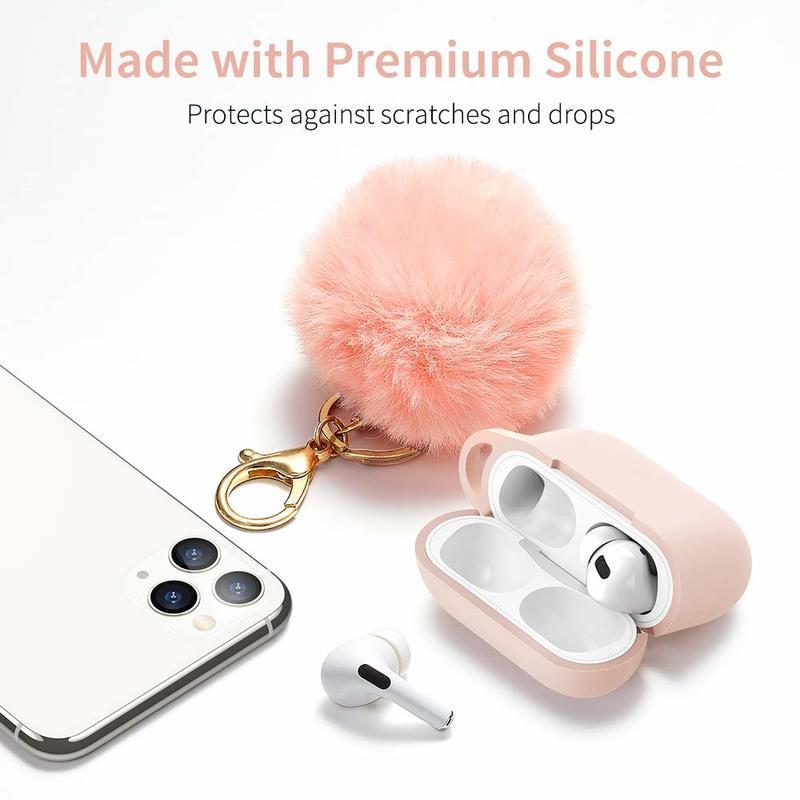 Bounce Series AirPods Pro Case with Pom Pom Keychain 1