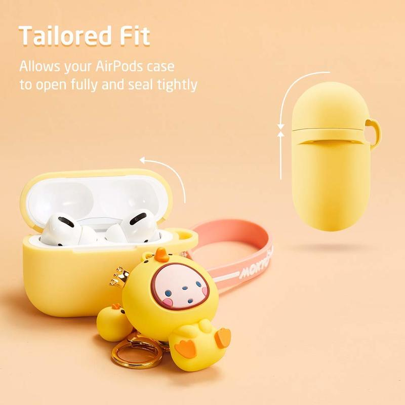 Bounce Series Cute AirPods Pro Case with Animal Keychain 3 1