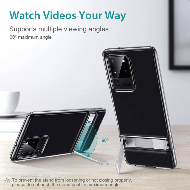 Galaxy S20 Ultra Metal Kickstand Phone Case 4