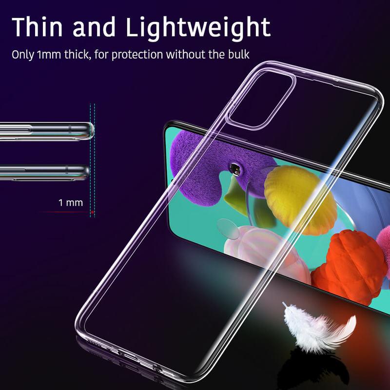 Galaxy A51 Essential Zero Slim Clear Soft TPU Case 2