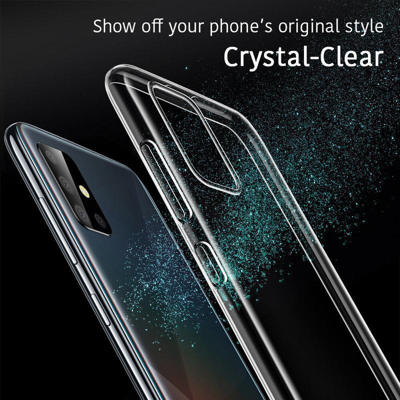 Galaxy A51 Essential Zero Slim Clear Soft TPU Case 3