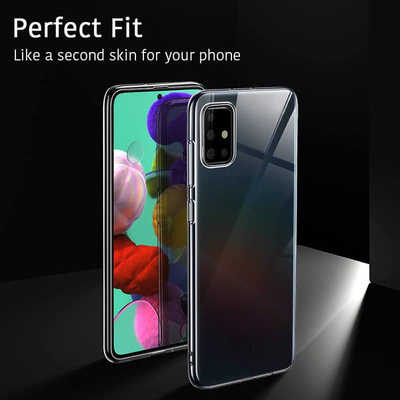 Galaxy A51 Essential Zero Slim Clear Soft TPU Case 4