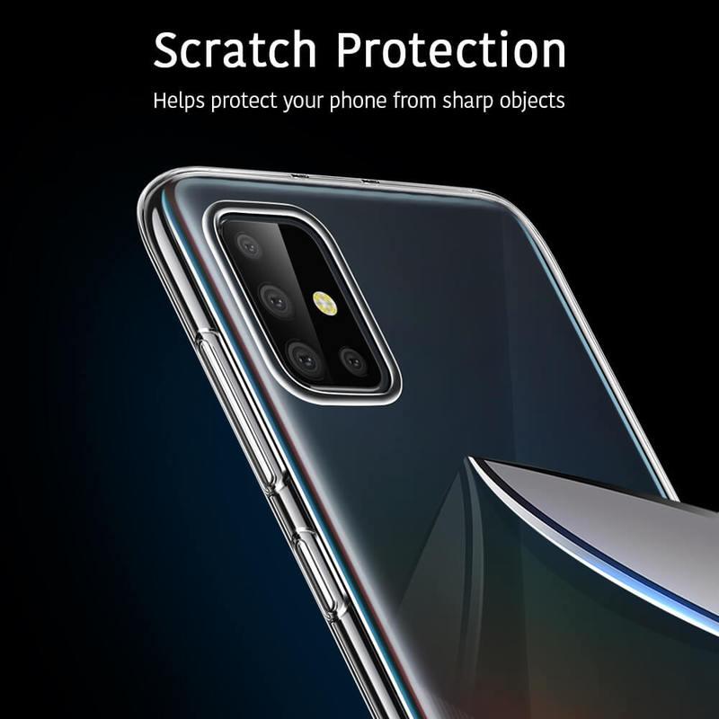 Galaxy A51 Essential Zero Slim Clear Soft TPU Case 6