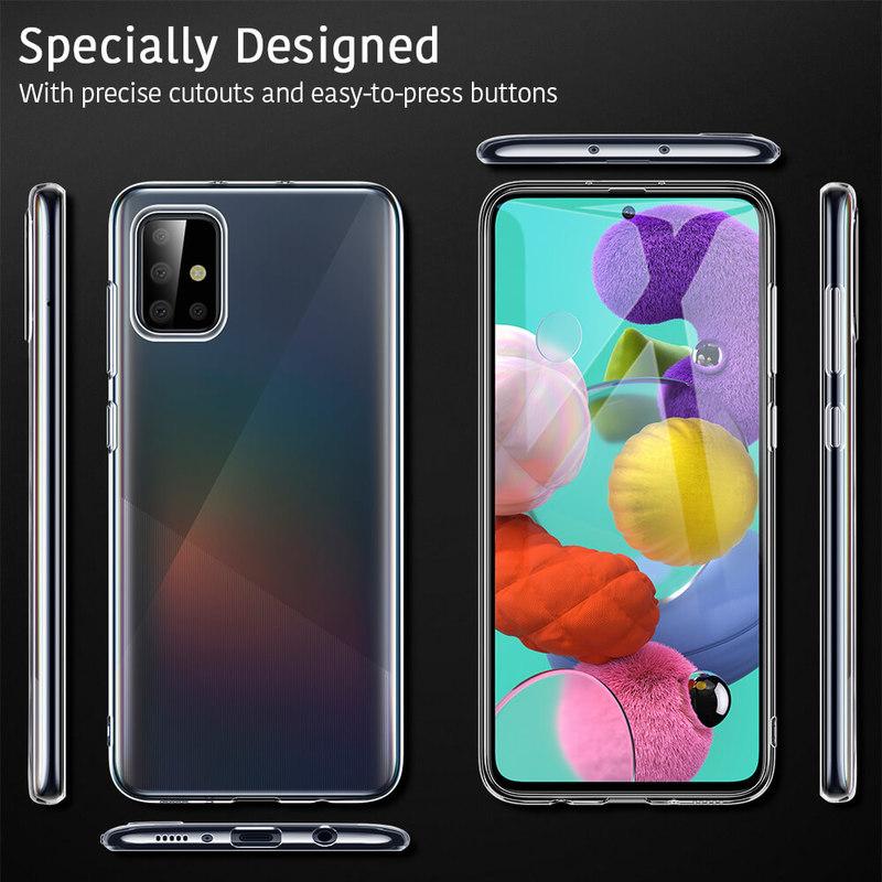 Galaxy A51 Essential Zero Slim Clear Soft TPU Case 7