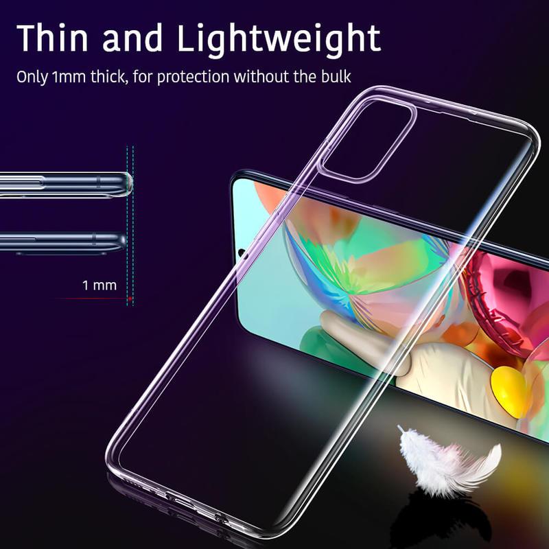 Galaxy A71 Essential Zero Slim Clear Soft TPU Case 3