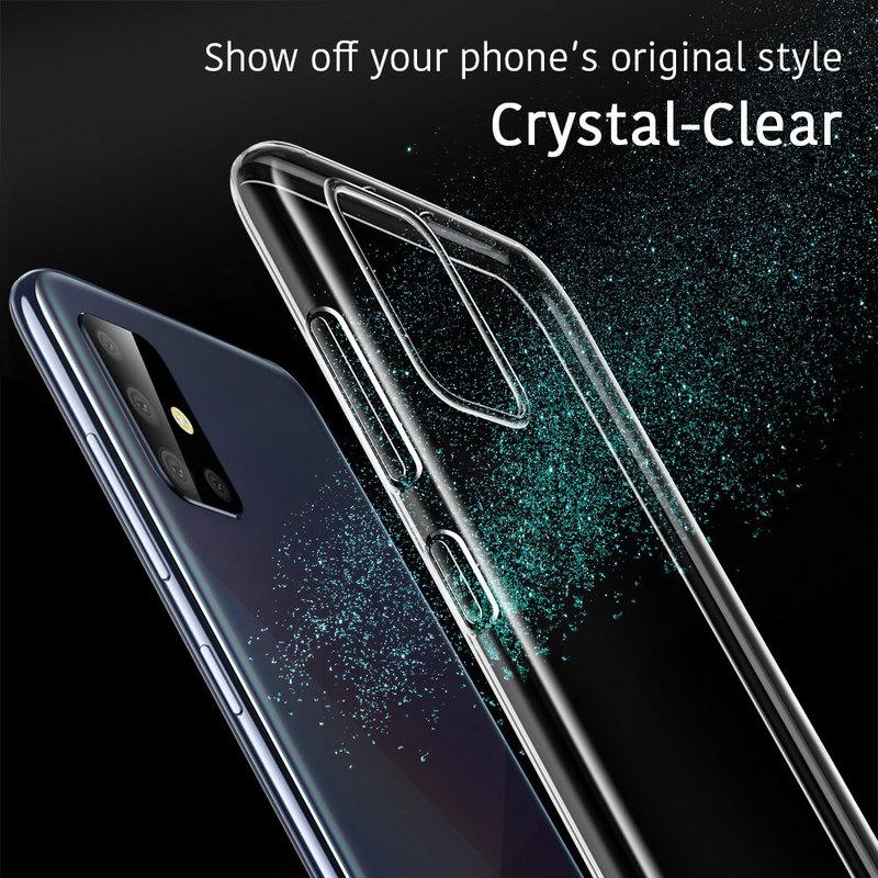Galaxy A71 Essential Zero Slim Clear Soft TPU Case 4