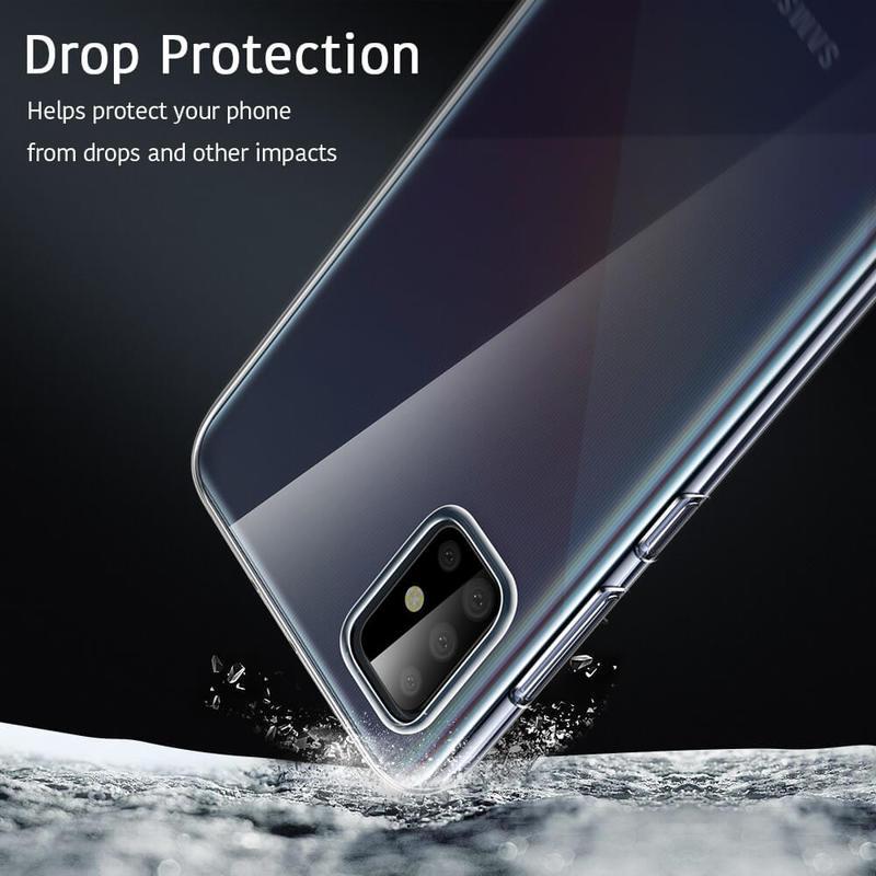 Galaxy A71 Essential Zero Slim Clear Soft TPU Case 6
