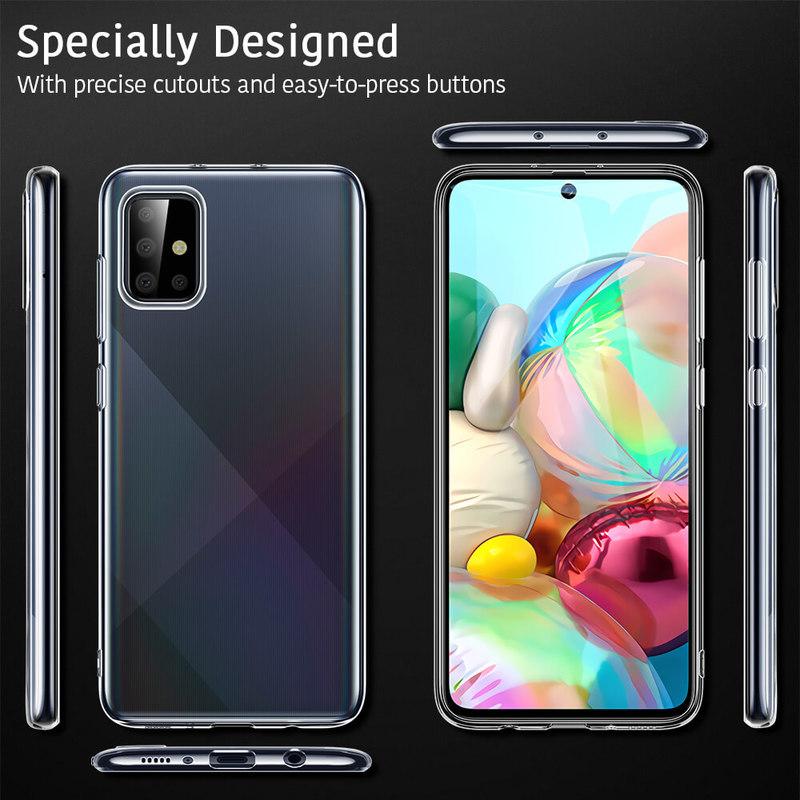 Galaxy A71 Essential Zero Slim Clear Soft TPU Case 8
