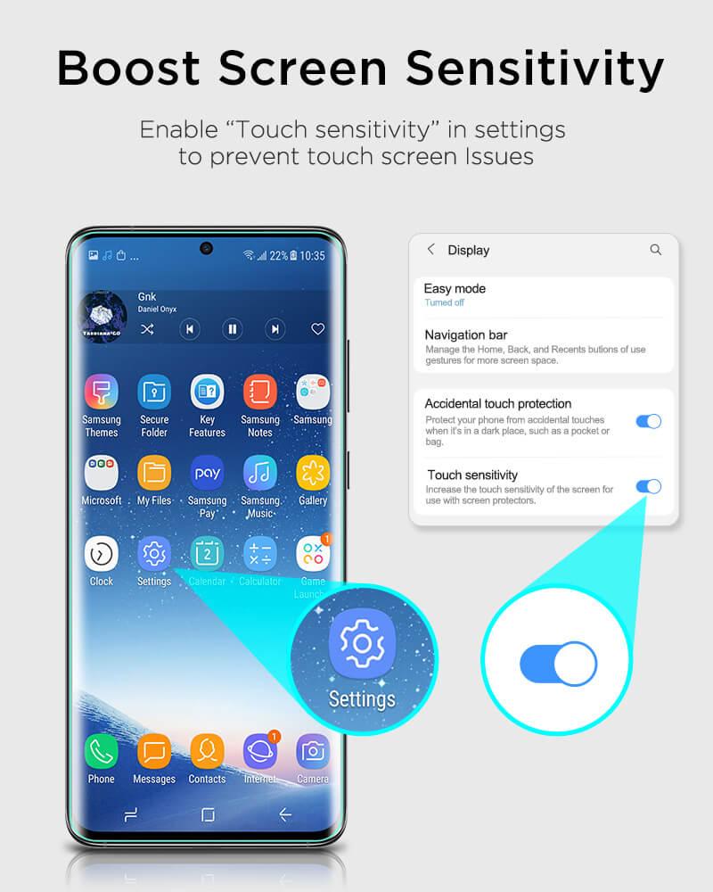Galaxy S20 Ultra Liquid Skin Full Coverage Screen Protector 4
