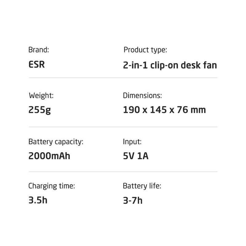 ESR Clip On Desk Fan 1