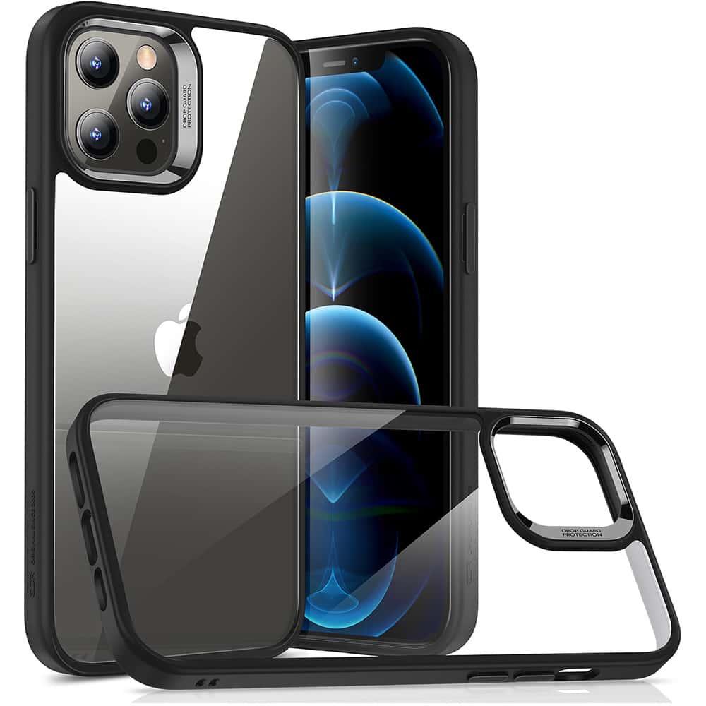 iPhone 12/12 Pro Classic Hybrid Shock-Absorbing Phone Case Black